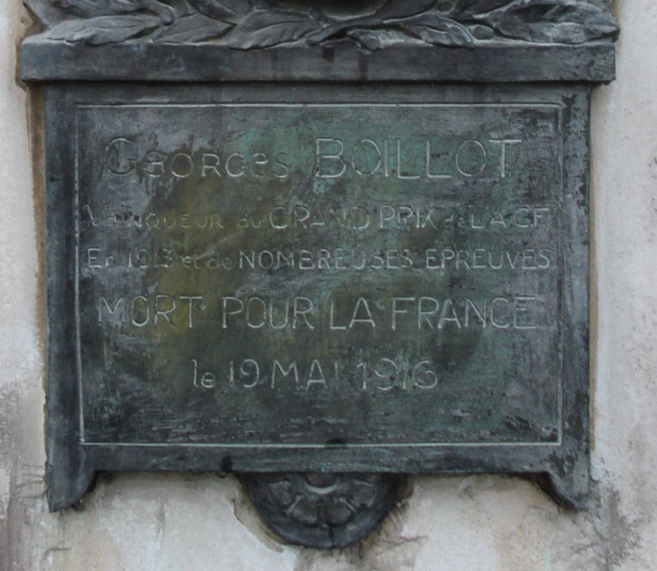 Memorial Georges Boillot Linas Essonne (91)