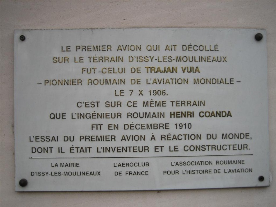 Plaque Henri Coanda - premier avion � r�action