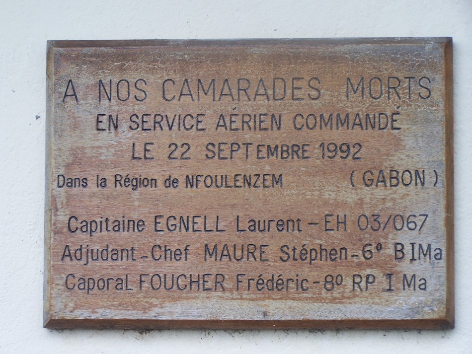 Plaque Cne Laurent Egnell Libreville