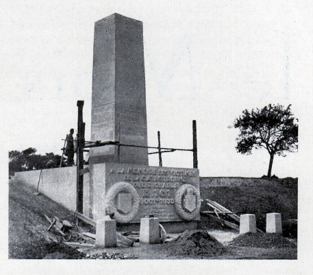 Le monument en construction